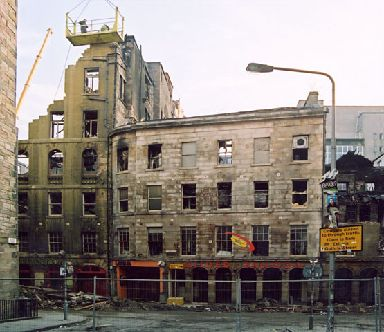 Many of the posters, awards and memorabilia from the Gilded Balloon were lost in the fire.