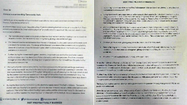 The letter sent from Police Scotland to Edinburgh City Council.
