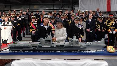 Replica: Cake replica of UK's most powerful warship.