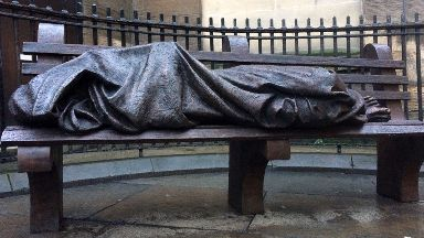 Homeless Jesus: Paid for by donations.