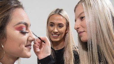 GlamCandy: Pupils picking up make-up artistry skills.
