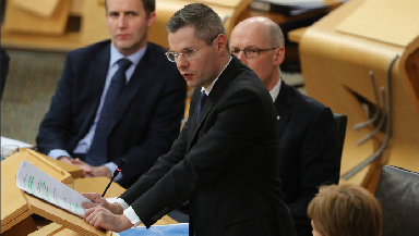 Passed: Derek Mackay said he has to work with other parties.
