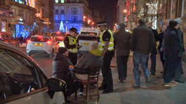 Police: STV News followed patrol officers on a busy festive night.