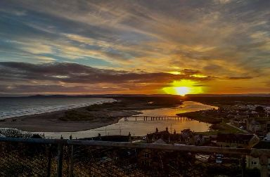 Sunrise over Lossiemouth.