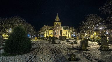 Dornoch Catherdral ready for Christmas.