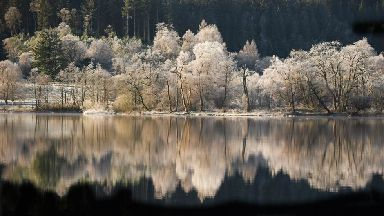 Winter Wonderland: Loch Achray in the Trossachs.