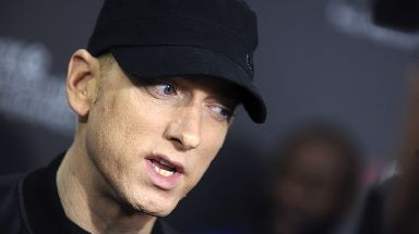 Eminem's track River came in at number two.
