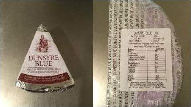 Health: All batches of Dunsyre Blue have now been recalled.