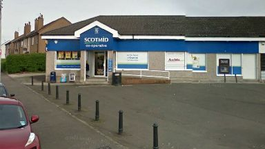 Scotmid: Car was parked outside.
