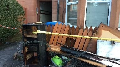 Fire: Neighbouring flats were evacuated.