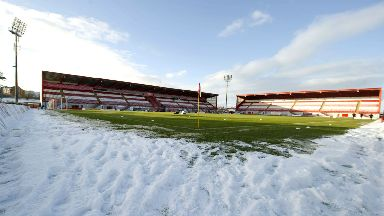 New Douglas Park will not host the Premiership tie with Kilmarnock  on Wednesday.