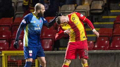 Georgios Sarris was involved in an incident against Partick Thistle which led to his contract being ripped up.