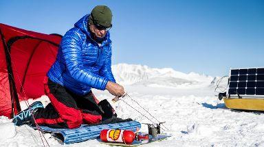 Robert Swan using bio-fuels in Antarctica