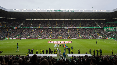 Celtic Park: Old Firm derby came to a goalless draw.