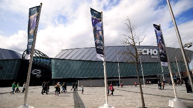 The fire broke out at the Liverpool Echo Arena.