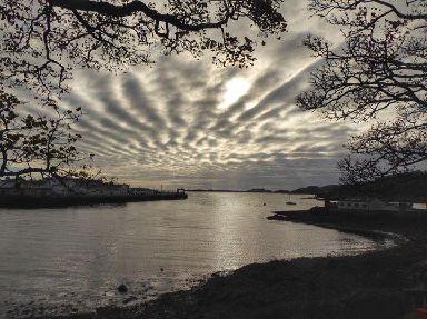 Moody skies above Stornoway Harbour.