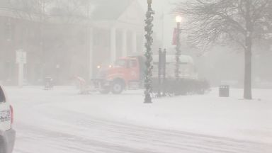 Plough trucks are out in force clearing the roads.