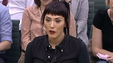 Paris Lees giving evidence to the Home Affairs select committee, debating whether prostitution should be legalised.