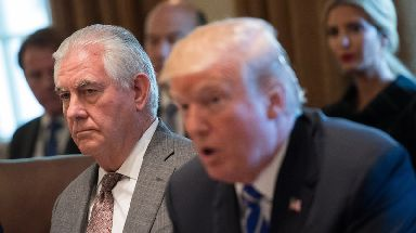 Rex Tillerson has been forced to defend Donald Trump's fitness for office.