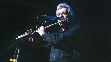 Ray Thomas performs with The Moody Blues at Royal Albert Hall in 2002.
