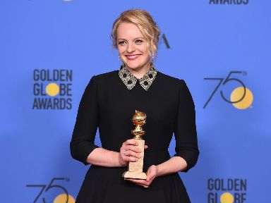 Elisabeth Moss won the award for best actress in a TV series for her role in The Handmaid's Tale