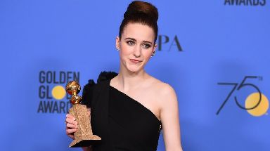 Rachel Brosnahan won best actress for her role in The Marvelous Mrs Maisel