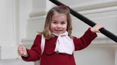 Princess Charlotte began nursery on Monday.