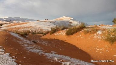 Snow is a rarity in the Sahara.