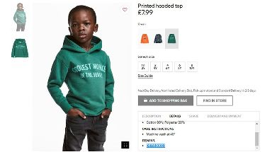 The H&M advert sparked outrage online.