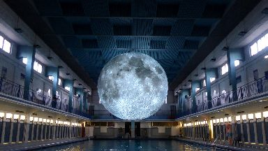 Art: The moon has a seven-metre circumference.