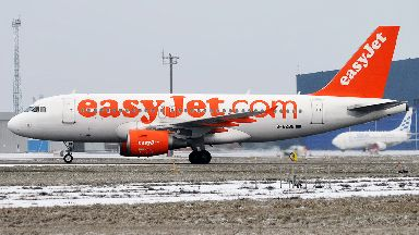 EasyJet: Plane (not pictured) made hard landing in Germany.