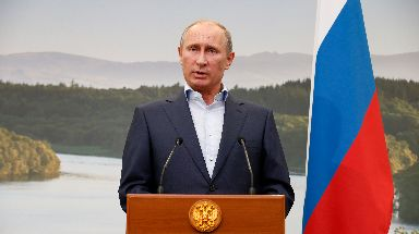 Vladimir Putin: Claimed to have no interest in indyref (file pic).