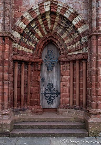 An ancient doorway at St Magnus.