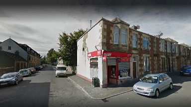 Robbery: The incident happened in a newsagents in Saltcoats.