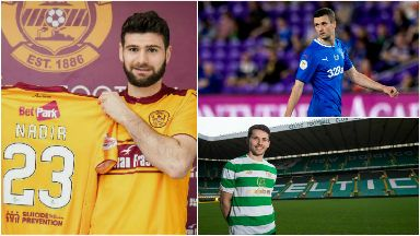 Clockwise: Nadir Ciftci signs for Motherwell, Jamie Murphy makes his Rangers debut and Lewis Morgans signs for Celtic before heading back to St Mirren again.