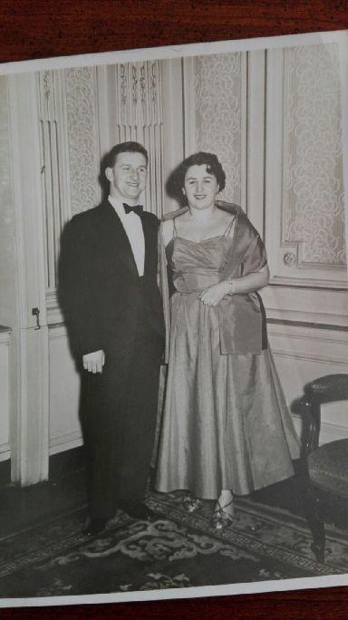 Frank and Sheena Waugh at The Marlborough, 1955.