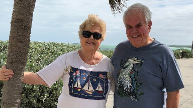The Huennigers: Floridian couple who found the letter 30 years later.