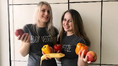 Edgy Veggies: Victoria (left) and Laura (right) taking on Veganuary 2018.