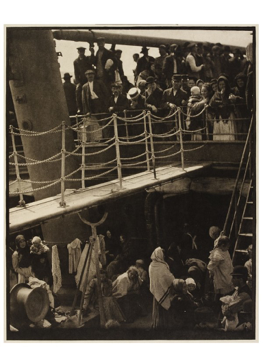 The Steerage: Famous 1907 photograph by Alfred Stieglitz.
