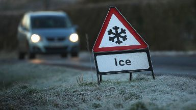 Warning: Ice is covering the roads in the north east.
