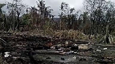 Villagers said soldier burnt down their village.