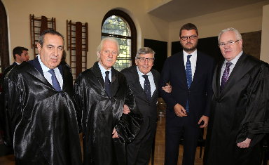 Link: Joseph Mifsud (far left) pictured with Gerry McCormac (far right) on October 26.