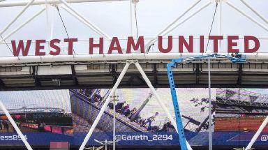 West Ham's stadium in Stratford, east London