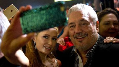 Fidel Castro Diaz-Balart, seen sharing a selfie with Paris Hilton in 2015.