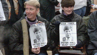 Protests: Hall's management style raised the ire of demonstrators.