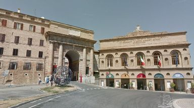 People were warned to stay inside during the drive-by attack in Macerata.