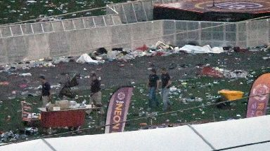 The aftermath of the deadly shooting.