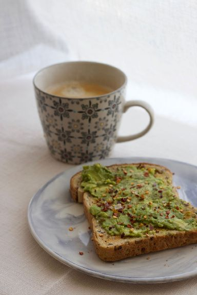 Avocado on toast was a popular breakfast during Veganuary.