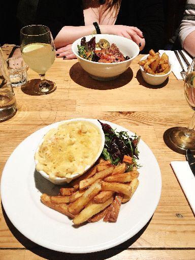 Vegan restaurant Mono in Glasgow offered a delicious macaroni cheese.