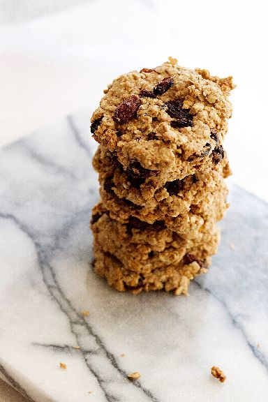 Oat and raisin cookies.